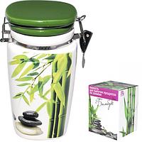 Емкость для сыпучих продуктов на зажиме Зеленый бамбук 760 мл SNT 6172