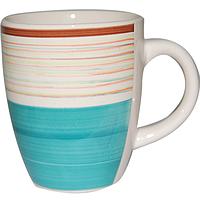 Чашка 360мл Полоска голубая SNT 6117