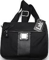 Мужская оригинальная кожаная сумка через плече Lab Pal Zileri Sportive 26123/10 черный