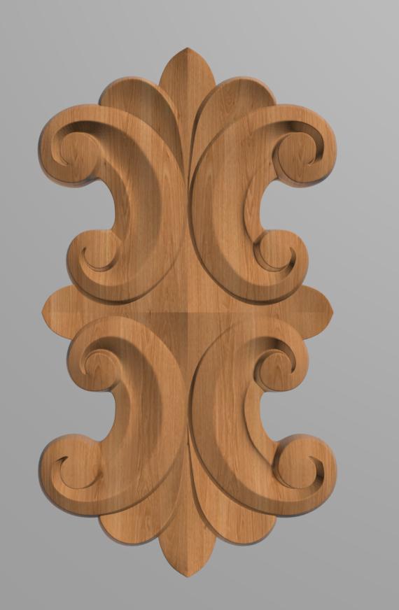 Код ДВ14. Деревянный резной декор для мебели. Декор вертикальный