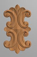 Код ДВ14. Деревянный резной декор для мебели. Декор вертикальный, фото 1