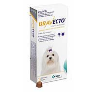 Бравекто (Bravecto) жевательная таблетка от блох и клещей для собак 2-4,5 кг.