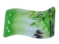 Тарелка прямоугольная (Зеленый бамбук) SNT 3818