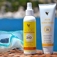 Алоэ солнцезащитный спрей для тела защитит от УФ лучей.