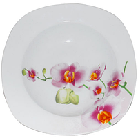 Тарелка 22,8см суп квадратная Орхидея SNT 30822
