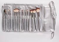 Набор кистей для макияжа 18 grey синтетика