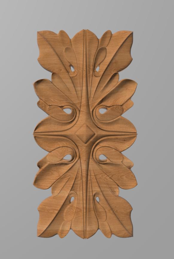 Код ДВ15. Деревянный резной декор для мебели. Декор вертикальный