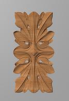 Код ДВ15. Деревянный резной декор для мебели. Декор вертикальный, фото 1