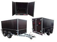 Прицеп фургон 3.1м х 1.55м х 1,8м. Тормоз наката 3т!