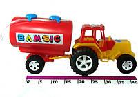 Детская машинка трактор с бочкой
