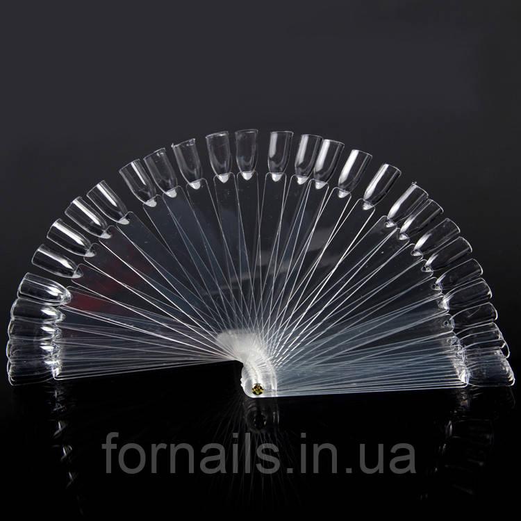 Типсы веер на болте 50 шт (прозрачные)