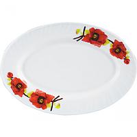 Блюдо овал 30см Красный мак 0994 Стеклокерамическим SNT 30062-0994