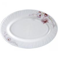 Блюдо овал 35см Розовая орхидея Стеклокерамическим SNT 30063-61099