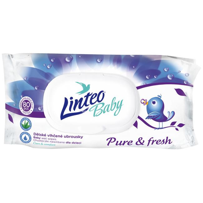 Детские влажные салфетки Linteo baby 80 шт.