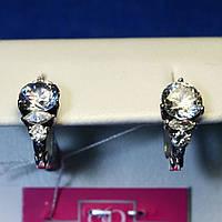 Серьги серебро с крупными камнями 2009в
