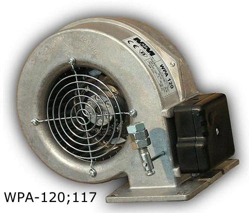 WPA-117 Вентилятор для котла с гравитационной заслонкой двигатель EBM Papst (германия)