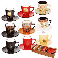 Сервиз кофейный 12 предметов Мокко (d-5см;h-6см;объём-100мл;d блюдца-12см) SNT 1533-01