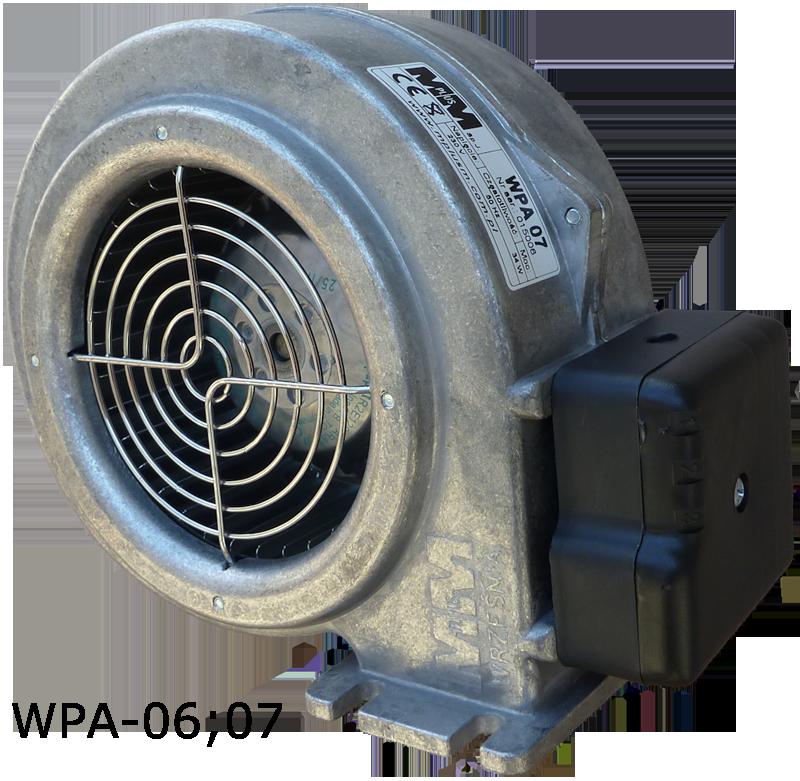 WPA-06 Вентилятор для котла с гравитационной заслонкой двигатель EBM Papst (германия)