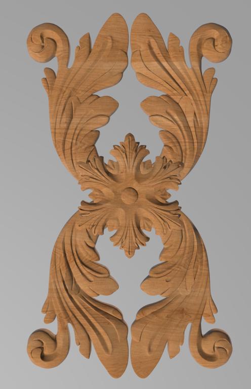 Код ДВ17. Деревянный резной декор для мебели. Декор вертикальный