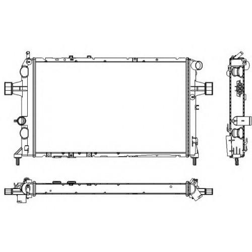 Радиатор Оpel Astra G (1.7TD механика АС+) 600*368мм по сотах KEMP