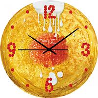 Часы настенные серия Кухня Блинные МДФ круг 28 см SNT 01-038