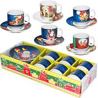 Сервиз кофейный 12 предметов в 80мл Новый год SNT 1454