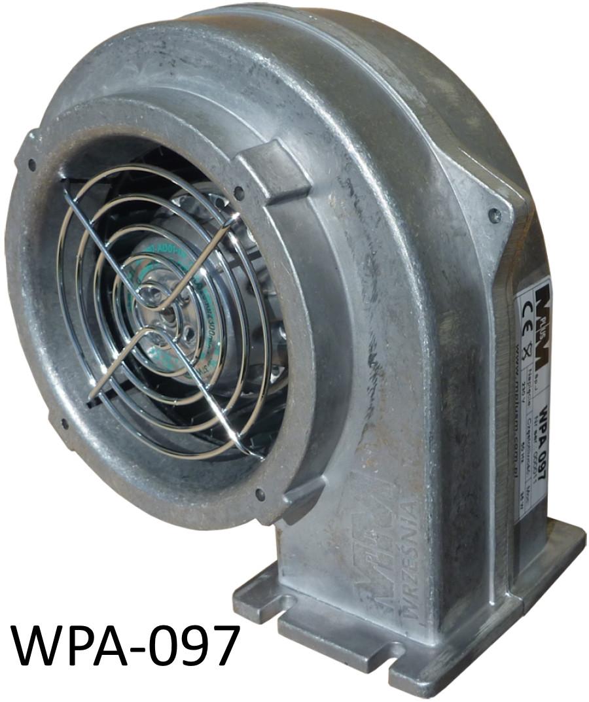 WPA-097 Вентилятор для котла с гравитационной заслонкой двигатель EBM Papst (германия)