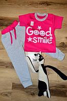 Летний костюм для девочки Good smile розовый Склад 2