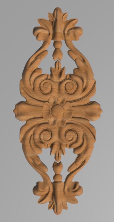 Код ДВ18. Деревянный резной декор для мебели. Декор вертикальный