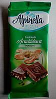 Alpinella молочный шоколад с арахисом 90 гр Польша