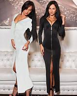 Женское длинное платье на молнии