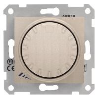 Диммер Schneider-Electric Sedna поворотно-нажимной универсал. 600W титан. SDN2201068
