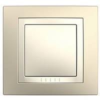 Рамка Schneider-Electric Unica Basic 1-пост с декоративным элементом кремовый/слоновая кость. MGU2.002.559
