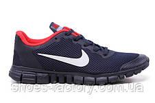 Кроссовки мужские в стиле Nike Free Run 3.0 V2, Dark Blue\Red, фото 3