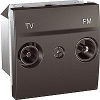 Розетка Schneider-Electric Unica TV-FM одинарна графіт. MGU3.451.12