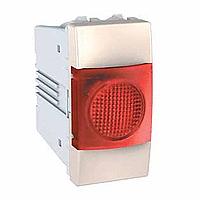 Индикатор Schneider-Electric Unica красный/слоновая кость. MGU3.775.25R