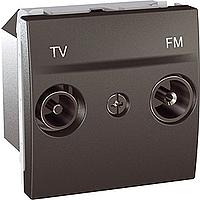 Розетка Schneider-Electric Unica TV-FM концевая графит. MGU3.452.12