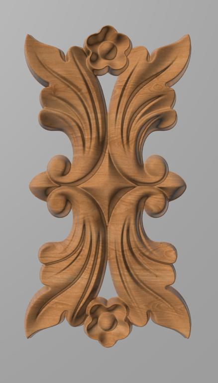 Код ДВ20. Деревянный резной декор для мебели. Декор вертикальный