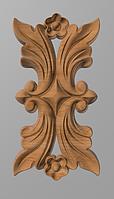 Код ДВ20. Деревянный резной декор для мебели. Декор вертикальный, фото 1