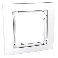 Рамка Schneider-Electric Unica Colors 1-пост наружная белый. MGU4.002.18
