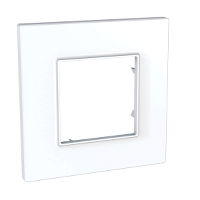 Рамка Schneider-Electric Unica Quadro 1-пост белая. MGU2.702.18