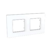 Рамка Schneider-Electric Unica Quadro 2-постовая белая. MGU2.704.18