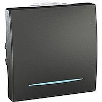 Переключатель Schneider-Electric Unica 1-клавишный проходной с инд. графит. MGU3.203.12N