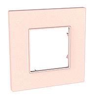 Рамка Schneider-Electric Unica Quadro 1-пост розово-жемчужный. MGU4.702.37