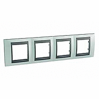 Рамка Schneider-Electric Unica Top 4-поста флюорит/графит. MGU66.008.294