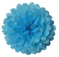 Помпон - Шар из тишью голубой 30 см