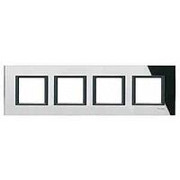 Рамка Schneider-Electric Unica Class 4-поста черное стекло. MGU68.008.7C1