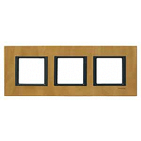 Рамка Schneider-Electric Unica Class 3-поста кожа анатолийский пергамент. MGU68.006.7P1