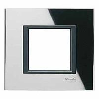 Рамка Schneider-Electric Unica Class 1-пост черное стекло. MGU68.002.7C1