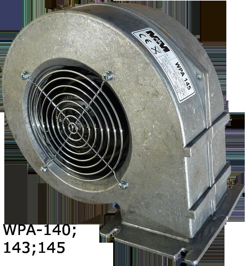 WPA-145 Вентилятор для котла с гравитационной заслонкой двигатель EBM Papst (германия)